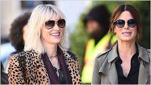 Ocean's 8: Cate Blanchett e Sandra Bullock aparecem nas primeiras imagens das gravações
