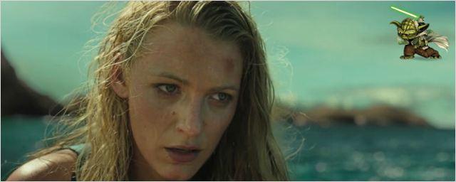 Em novo trailer de Águas Rasas, contra tubarão Blake Lively luta