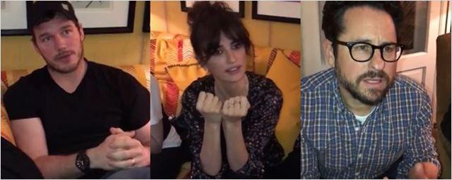 Josh Gad convoca Chris Pratt, Penélope Cruz e J.J. Abrams para perguntar spoilers de Star Wars: Os Últimos Jedi para Daisy Ridley