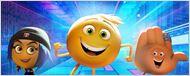 Personagens sorridentes correm na primeira imagem de Emojimovie: Express Yourself