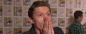 Veja Tom Holland empolgado com sua estreia na Comic-Con para apresentar o novo filme do Homem-Aranha