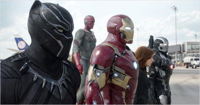 Capitão América: Guerra Civil : Foto Chadwick Boseman, Paul Bettany, Robert Downey Jr., Scarlett Johansson