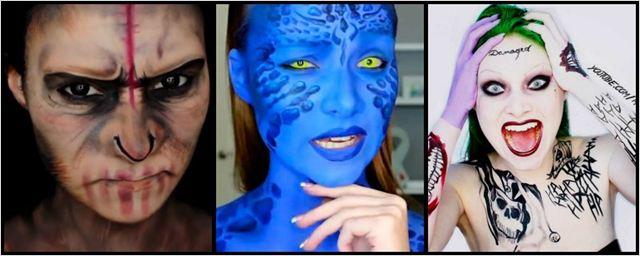 Maquiadora se transforma em personagens do cinema e da TV