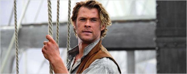 Chris Hemsworth surge irreconhecível em foto durante as filmagens de No Coração do Mar