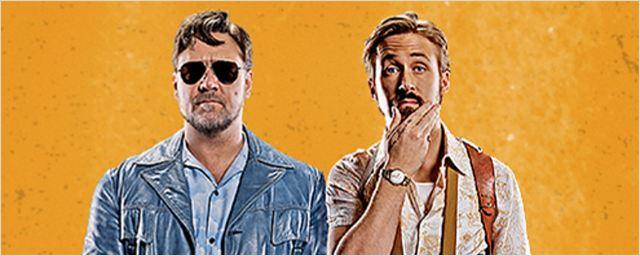 Exclusivo: Ryan Gosling e Russell Crowe quebram tudo no trailer legendado de Dois Caras Legais