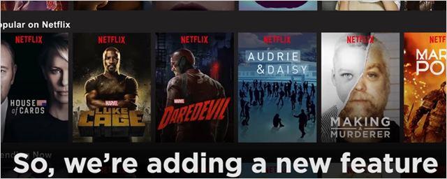 Netflix inclui prévias em vídeo de seus títulos em aplicativo da TV
