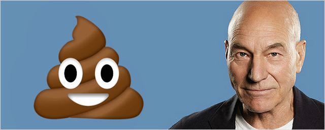 Patrick Stewart fará dublagem do Cocô em Emoji: O Filme