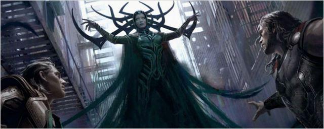 Artes conceituais de Thor: Ragnarok mostram visual de Cate Blanchett como Hela