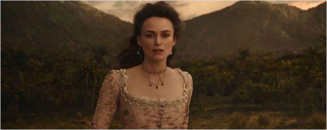 Keira Knightley retorna como Elizabeth Swann em trailer internacional de Piratas do Caribe - A Vingança de Salazar