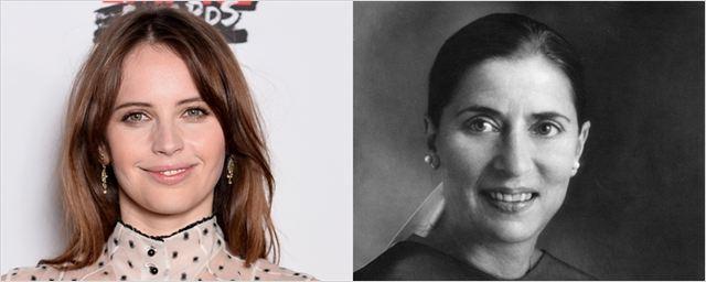 Felicity Jones substitui Natalie Portman em cinebiografia de famosa juíza da Suprema Corte dos Estados Unidos